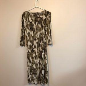 Ellen Tracy midi long snake python print dress